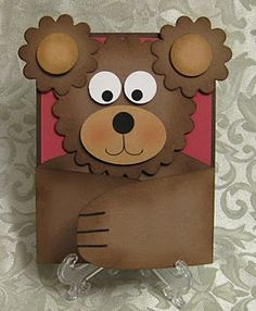 bear hug card. the arms open. Come up with other animals for this design