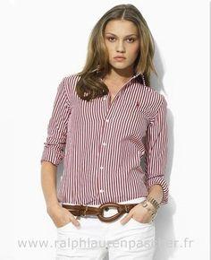 ralph lauren chemises femmes jean rouge Chemise Bleu Ralph Lauren