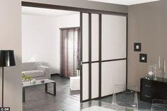 Une porte coulissante grande largeur - Des photos de portes coulissantes pour gagner de la place - CôtéMaison.fr