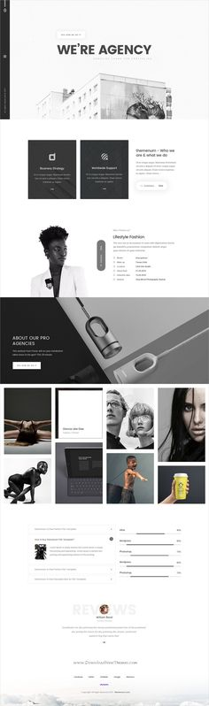 Themenum is clean and modern design PSD template for #minimal #portfolio and #agency website with 13 layered PSD pages download now..