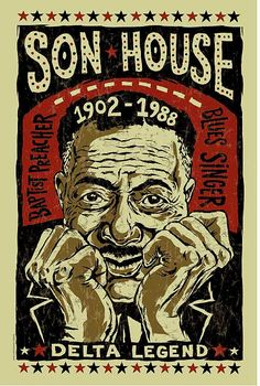 Son House Poster- signed by Grego - digital - blues folk art - Delta Blues guitar Rock Posters, Band Posters, Concert Posters, Jordan Poster, Vintage Festival, Blues Music, Jazz Blues, Delta Blues, Blue Poster