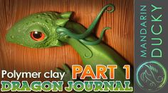 This is a polymer clay dragon journal tutorial video (Part 1) by My Mandarin Ducky