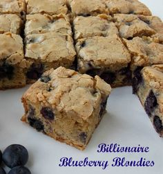 Mystery Lovers' Kitchen: How to Make my BILLIONAIRE BLUEBERRY BLONDIES by Cleo…