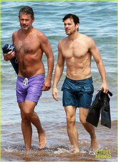 Matt Bomer Shows Off Shirtless Body While Paddleboarding With Husband Simon Halls