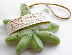Dope on a Rope Soap - Peppermint Eucalyptus - Hemp Soap - Northern Lights - Valentines Gift Marijuana Pot Cannabis Boho Hippie Pot Gifts
