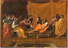Mozes trapt op de kroon van de farao ~ 1645 ~ Olieverf op doek ~ 99 x 142 cm. ~ Musée du Louvre, Parijs