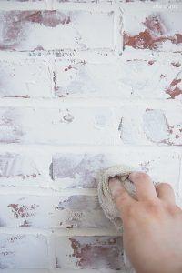 Latest No Cost german smear Brick Fireplace Thoughts German Smear/ German Schmear Faux Brick Wall – Faux Brick Wall Panels, Brick Wall Paneling, Painted Brick Walls, Faux Brick Walls, White Brick Walls, Faux Brick Backsplash, German Schmear, Faux Murs, Brick Interior