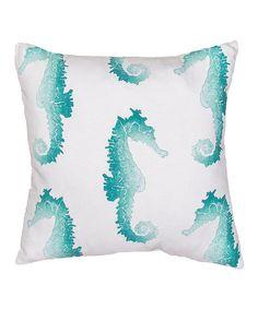Look at this #zulilyfind! Blue Sea Horse Veranda  Throw Pillow - Set of Two #zulilyfinds