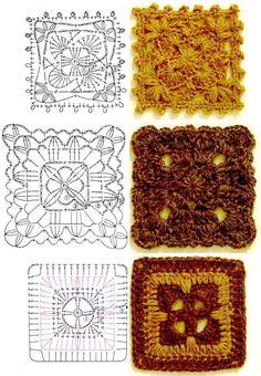 Free Crochet Square Charts