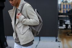 SHOP THE LOOK:  TY-LR MAN Jacket  //  Cotton On T-shirt  //  H&M (Similar) Jeans  //  New Balance Sneakers  //  Coach Backpack