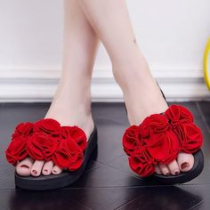 cb1399c774 Buy Now   handwork  flower  heels Calzado Mujer