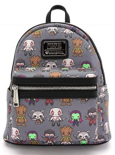 Loungefly x Marvel Guardians of the Galaxy Kawaii Mini Faux Leather Backpack - Backpacks - Bags Marvel Backpack, Galaxy Backpack, Backpack Purse, Backpack Brands, Small Backpack, Pretty Backpacks, Cute Mini Backpacks, Guardians Of The Galaxy, Chuck Norris