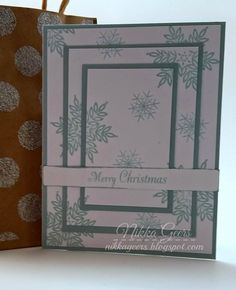 Create your Vision: Create Your Card - Create A Triple Time Card Merry christmas sing glory snowflakes glacier Cricut Close To My Heart ctmh