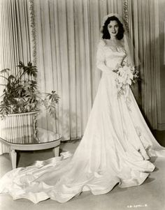 Vintage Hollywood, Movies And Tv Shows, Perry Mason, Bouquet, Gowns, Vintage Weddings, Retro, Wedding Dresses, Brides