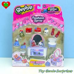 *NEW* * Shopkins Best Dressed Collection Playset - Fashion Spree Shopkins Season 3, New Shopkins, Shopkins Bedding, Shopkins Fashion Spree, Toy Room Organization, Moose Toys, Monster High Birthday, Funny Toys, Fun Diy Crafts