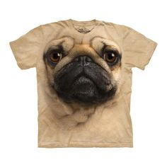 The Mountain Pug Tee now featured on Fab.
