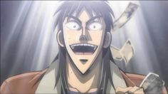This is pretty much the happiest he is in the entire series. Kaiji Anime, Kaiji Itou, Anime Poses Reference, Anime People, Human Condition, Apocalypse, Manga, Pretty, Swag