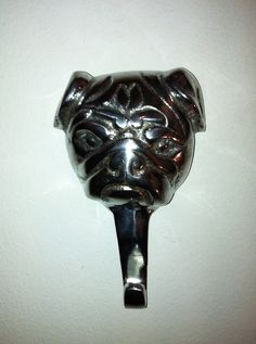 Cute pug hook. Nook interior design.