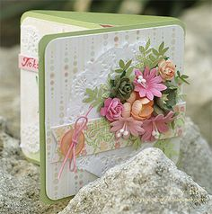 Gorgeous cover for card or mini.....Scrapbooking247.com