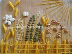 The Nicest Pictures: seed art Fall Arts And Crafts, Crafts For Kids, Seed Art For Kids, Pasta Kunst, Pasta Art, Fall Art Projects, Bible School Crafts, Camping Crafts, Autumn Art