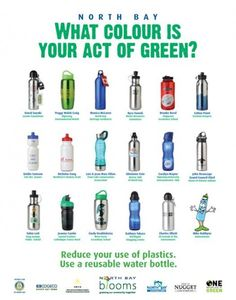 Reusable Water Bottle Poster  -  North Bay Blooms. Canada, 2OO9