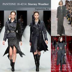 Модные цвета осень-зима 2015-2016 года, фото: Шторм (Stormy Weather)