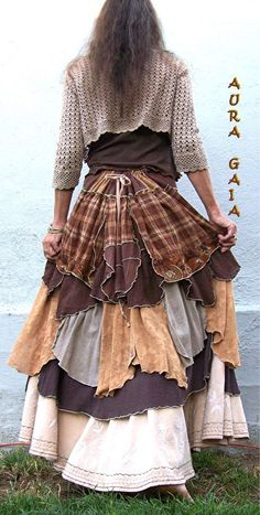 54ea8c8e81981 AuraGaia ~She s Complicated~ Poorgirl Upcycled Bustleback Skirt XS-2X Plus   AuraGaia
