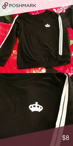 Queen crown sweater Size small. Black with queen crown. Tops Sweatshirts & Hoodies