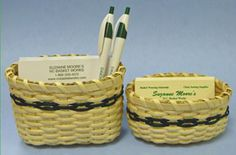 Deskmates Baskets free pattern