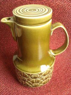 Retro coffee pot by Beswick.  in the Zorba range, pattern 2229