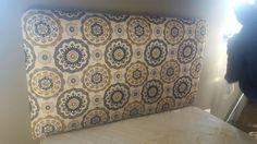 Pattern fabric headboard