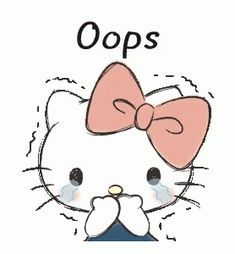 Hello Kitty Oops GIF - HelloKitty Oops - Discover & Share GIFs