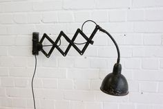 Wall+Mounted+Industrial+Czech+Scissor+Lamp+Circa+1950 Vintage Industrial Lighting, Wall Mount, Lamps, Wall Lights, Home Decor, Lightbulbs, Appliques, Decoration Home, Room Decor