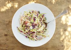 Coleslaw with Apple and Yogurt Dressing by bonappetit: Light, cool and refreshing! #Coleslaw #Apple #Yogurt #bonappetit
