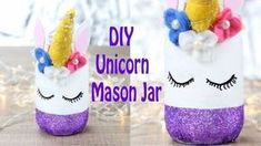Diy Unicorn Bedroom Decor - Bedroom : Home Decorating Ideas Unicorn Bedroom Decor, Unicorn Rooms, Diy Home Decor Bedroom, Bedroom Kids, Kids Rooms, Baby Food Jar Crafts, Mason Jar Crafts, Mason Jar Diy, Diy Crafts For Adults