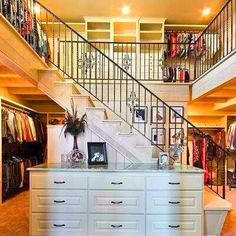 Two-story closet!!!   THIS would be AMAZING!! @Beth Hayes