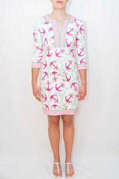 Gretchen Scott Anchors Away Jersey Knit Dress.