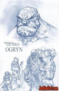 Imperial Guard Ogryn concept art (Unused):