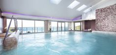 The hydro pool seems to extend all the way to the Atlantic in the Bedruthan Spa. To book your spa day call us on 01637 861 219.