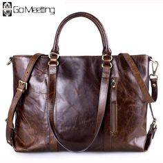 828879675c42 AINIMOER Womens Retro Genuine Leather Large Capacity Shoulder Bag Tote Cross  Body Bags Tophandle HandbagsCoffee -- See this great product.