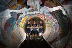 Shaun Johnson with Jamie Whincup & Craig Lowndes #JamieWhincup #CraigLowndes #ShaunJohnson #Tunnel
