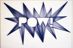 """Make your comic book party more unique with this DIY string art backdrop that screams, """"Pow!"""""""