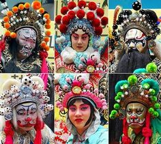 In chinese opera, the color of the masks worn is generally used to portray a character's role, emotional state and general character:-  White: Sinister, evil, crafty, treacherous, and suspicious. Anyone wearing a white mask is usually the villain.  Green: Impulsive, violent, no self restraint or self control.  Red: Brave, loyal.  Black: Rough, fierce, or impartial.  Yellow: Ambitious, fierce, cool-headed.  Blue: Steadfast and fiercely loyal.  (picture from http://www.trenddelacreme.com)