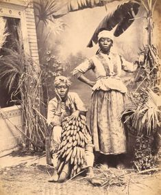 Striking images - shortly to be auctioned - show the Caribbean island in the   early years of photography.