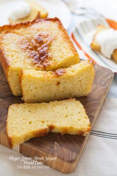 Meyer Lemon-Greek Yogurt Pound Cake from thelittlekitchen.net @TheLittleKitchn