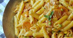 Experimente aus meiner Küche: Penne in cremiger Gemüsesoße, Kochen, Hauptgericht, Pasta, Nudeln, Nudelpfanne, Kinder, Schinken, Buttergemüse, Wurst-Gemüse-Pfanne mit Schinken, Kochschinken, Schnell, Feierabendküche