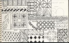 Sept. 6 - playing with some tangles in my journal