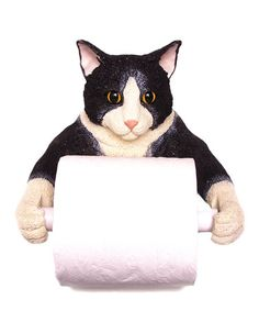 Loving this Cat Toilet Paper Holder on #zulily! #zulilyfinds