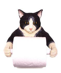 Look at this #zulilyfind! Cat Toilet Paper Holder #zulilyfinds