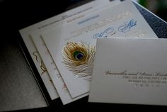 peacock themed wedding invitations | courtesy Zoya Couture | www.shaadibelles.com